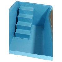754 blue steps inside