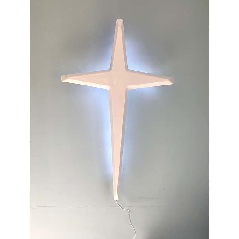 Tapered cross_bright white