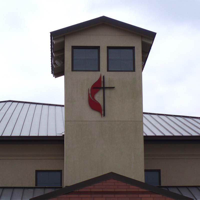 Methodist cross_wall mount
